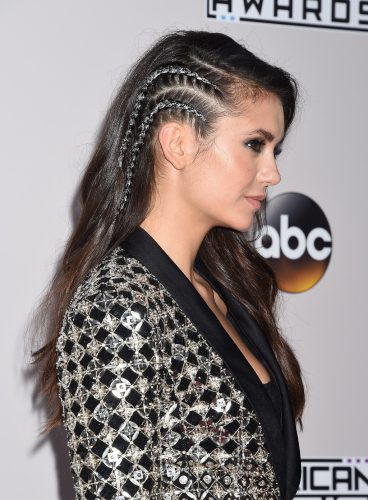 Actress Nina Dobrev during 44th annual American Music Awards on Sunday, Nov. 20, 2016, in Los Angeles.